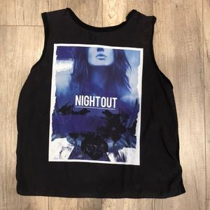Express Night Out Sleeveless Top